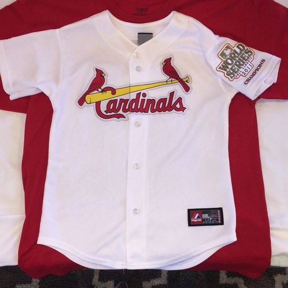 ae80b4c0bc9 Majestic Tops | St Louis Cardinals Mlb World Series Jersey | Poshmark